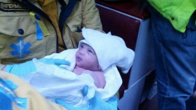Lady, la niña recién nacida junto a la plaza de Cibeles