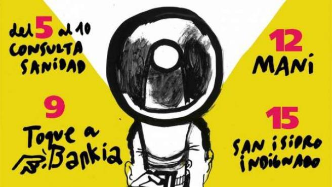 Cartel para las movilizaciones en Madrid del denominado 'Mayo Global'.