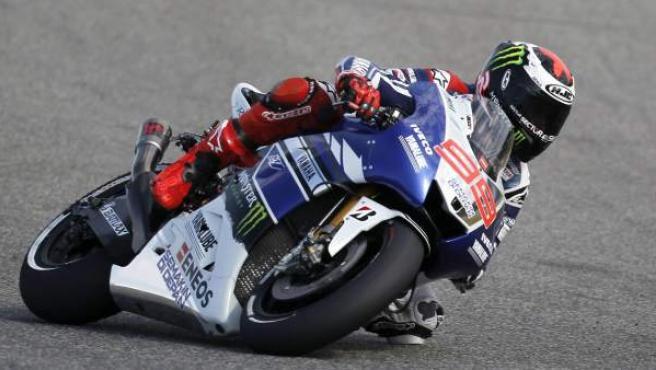Jorge Lorenzo, en los entrenamientos del GP de Jerez.