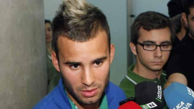 Jesé Rodríguez atiende a los medios de comunicación tras ganar el Europeo sub'19.