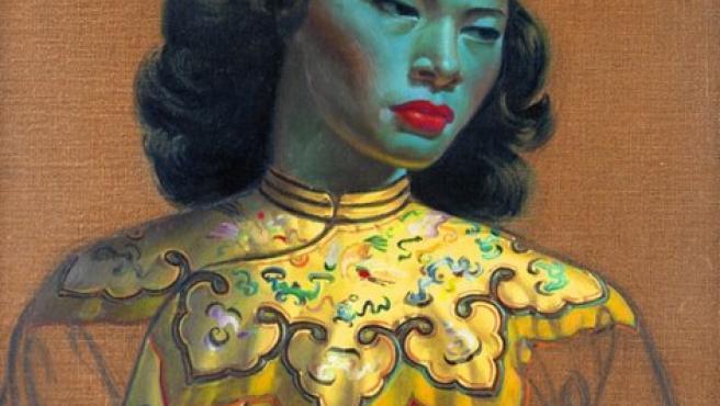 'Chinese Girl' (1952-53), conocida como la 'Dama verde', una de las obras de Tretchikoff