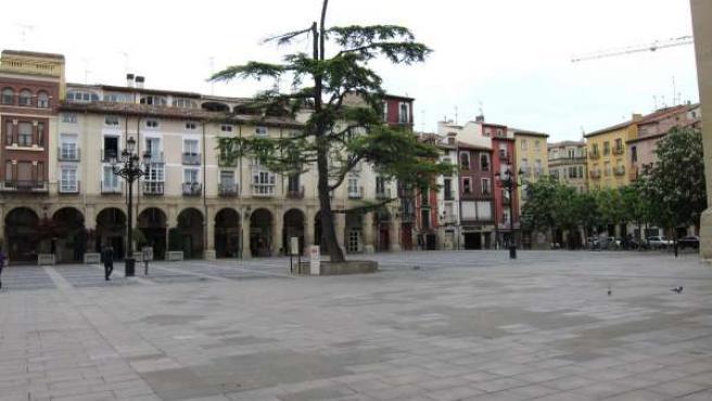 Edificios antiguos en la Plaza del Mercado de Logroño