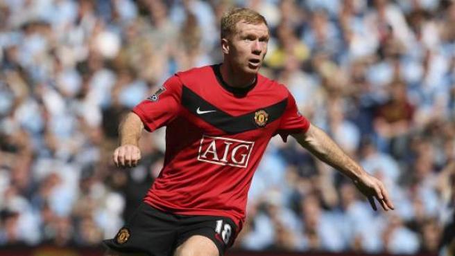 Foto de archivo del 17 de abril de 2010 del futbolista del Manchester United Paul Scholes.