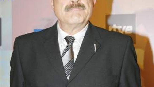 El presentador, locutor y actor Constantino Romero, durante la gala con motivo del 50 aniversario de TVE.
