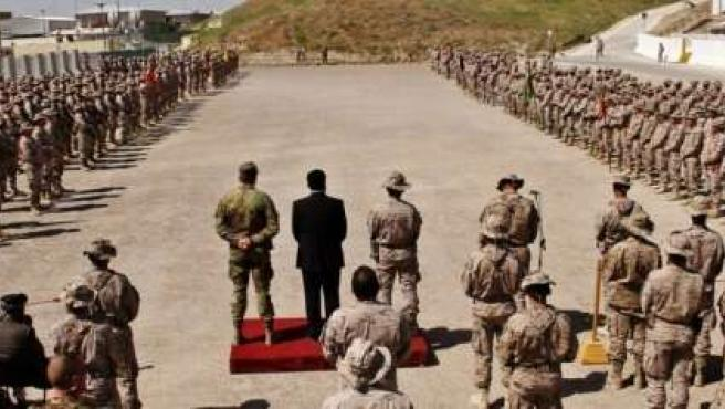 Acto de transferencia de autoridad del contingente español en Afganistán