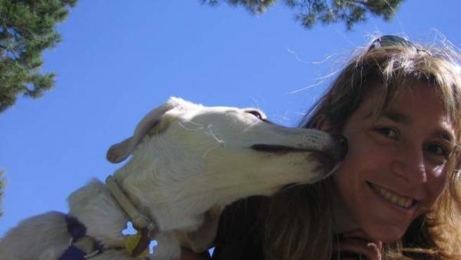 Punko no es un can de raza, pero es perro de asistencia y de terapia.