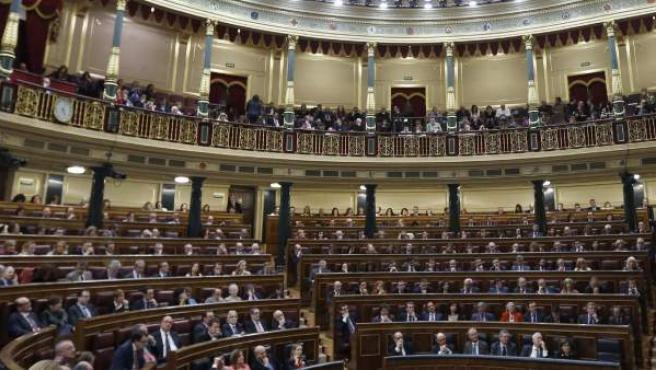 Vista general de hemiciclo del Congreso de los Diputados