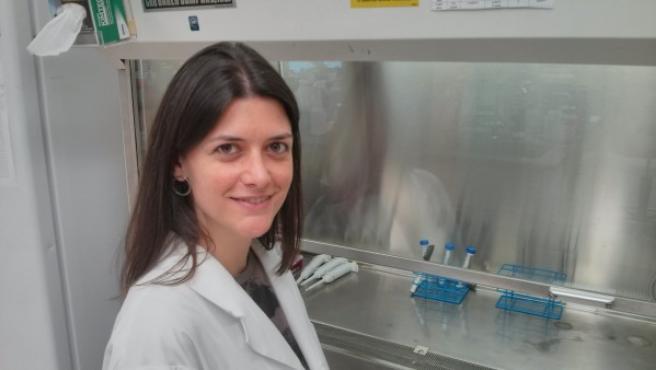 Nuria Marti Gutierrez, española del grupo de embriología del laboratorio de Oregón.