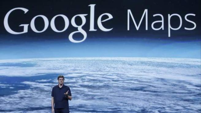 Brian McClendon, vicepresidente de Google Maps, en la presentación de la nueva versión del programa en San Francisco.