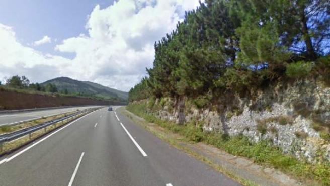 Imagen de la A-8 a la altura de Valdés, en Asturias.