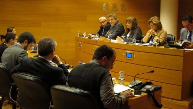 El secretario autonómico del Sector Público Empresarial, Bruno Broseta, en Corts