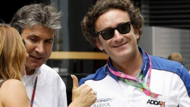 Alejandro Agag, marido de Ana Aznar, durante el último Gran Premio de F1 celebrado en Valencia.