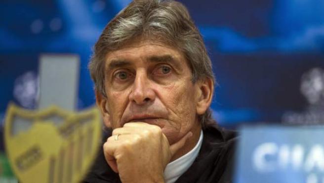 Manuel Pellegrini, entrenador del Málaga.
