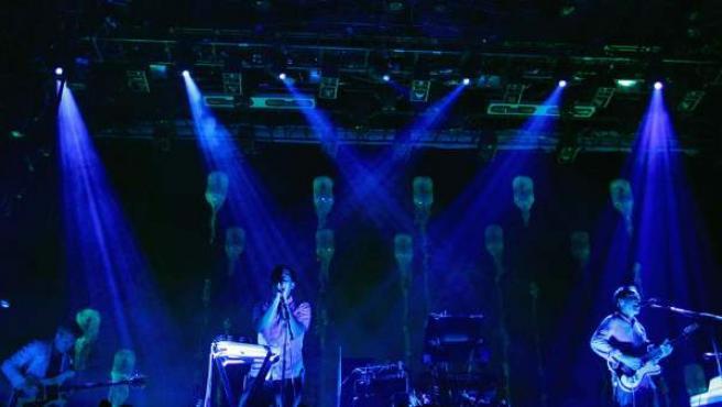 Los integrantes de Grizzly Bear, durante el concierto de la banda estadounidense en la primera de las tres jornadas grandes del festival Primavera Sound 2013.
