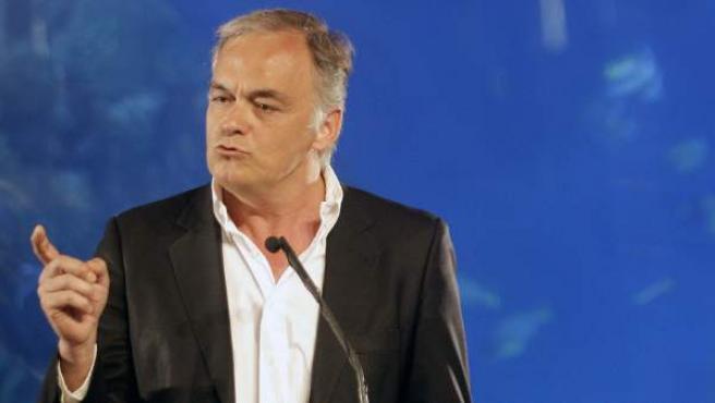 El vicesecretario de Estudios y Programas del PP, Esteban González Pons, durante su intervención en el acto de conmemoración del primer aniversario de Alberto Fabra como presidente del Partido Popular valenciano.