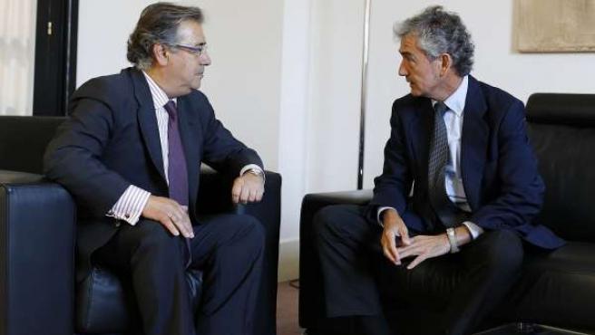 El alcalde de Sevilla Juan Ignacio Zoido con el presidente de Konecta