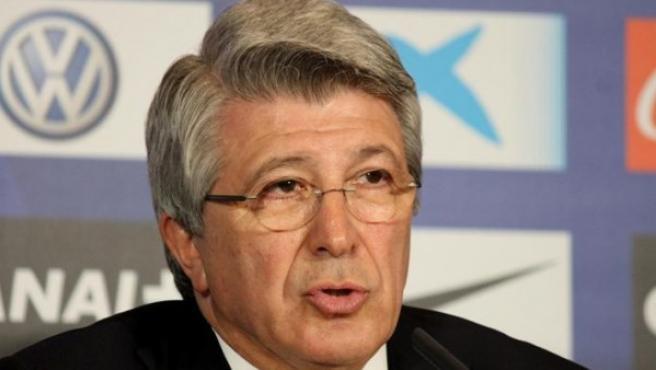 Enrique Cerezo, presidente del Atlético.