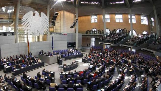 El Bundestag, reunido