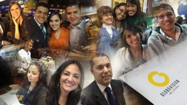 Imagen promocional del canal venezolano Globovisión, que anuncia negociaciones para su venta.