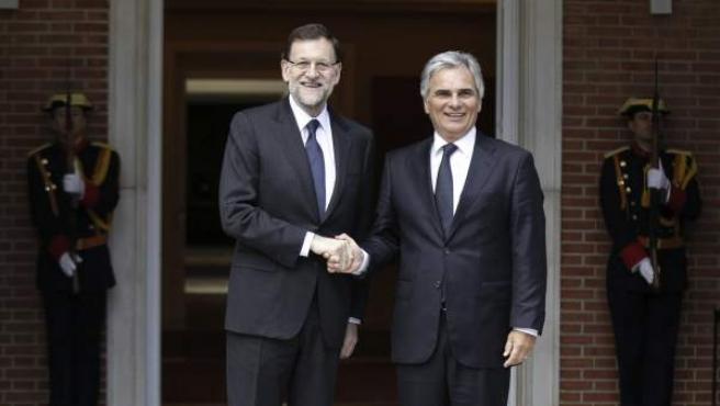 Mariano Rajoy junto al canciller federal de la República de Austria, Werner Faymann.