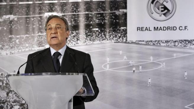 Florentino Pérez, en conferencia de prensa.