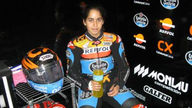 La piloto de motos María Herrera