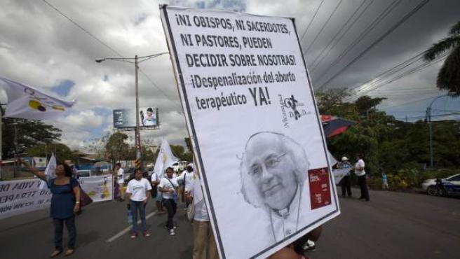 Manifestación reciente en Managua (Nicaragua), donde el aborto terapéutico está prohibido en el Código Penal desde 2006.