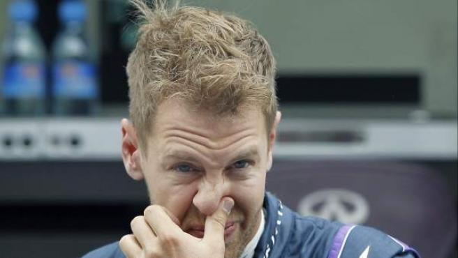 El piloto alemán Sebastian Vettel, durante los entrenamientos libres del GP de España de Fórmula 1.