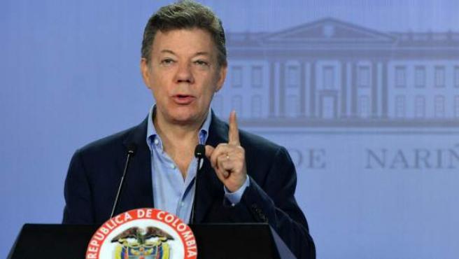 El presidente de Colombia, Juan Manuel Santos.