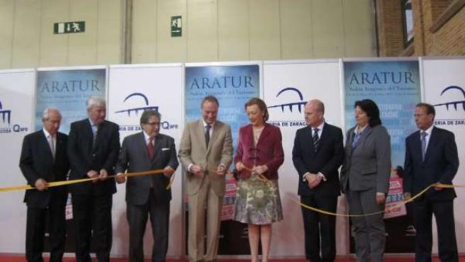 Inauguración del Salón ARATUR, este viernes en la Feria de Zaragoza.
