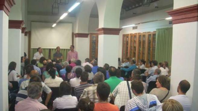 Asamblea de afectados de la Mancomunidad del Guadalquivir.