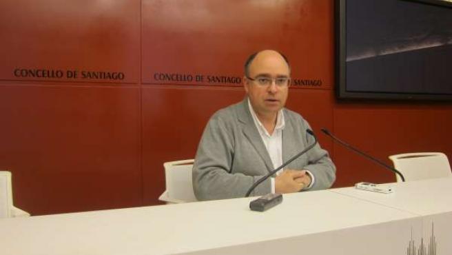 El portavoz del PSOE compostelano, Francisco Reyes