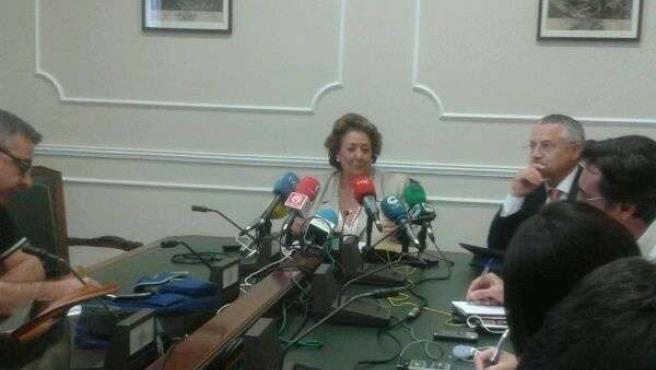 Rita barberá comparece ante los medios