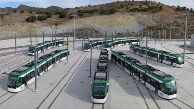 Trenes del metro de Málaga