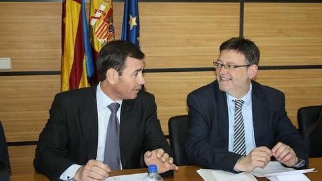 Tomás Gómez y Ximo Puig