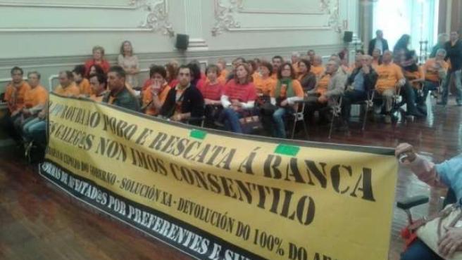 Protestas de afectados por preferentes en Pontevedra