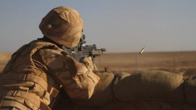 Un soldado de la OTAN, en Afganistán.