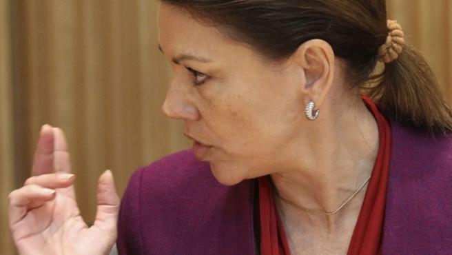 La secretaria general del Partido Popular María Dolores de Cospedal.