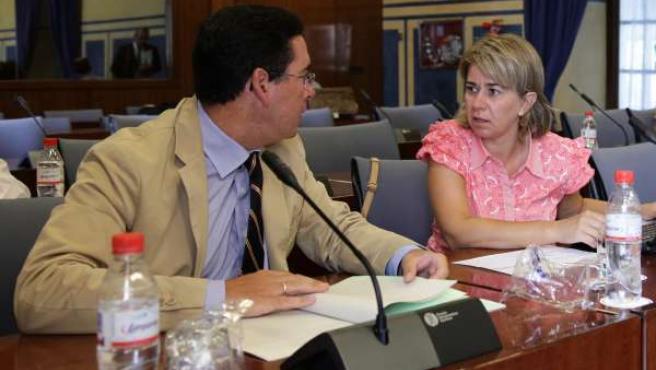 Teresa Ruiz Sillero antes de la comisión