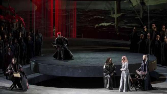 Un momento de la ópera Otello en el Palau de les Arts