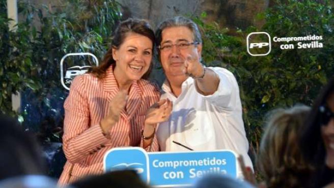 Cospedal y Zoido este domingo en Sevilla