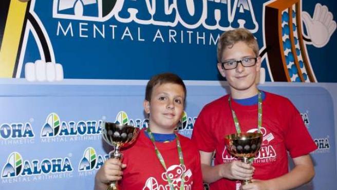 Ganadores del campeonato nacional de cálculo infantil