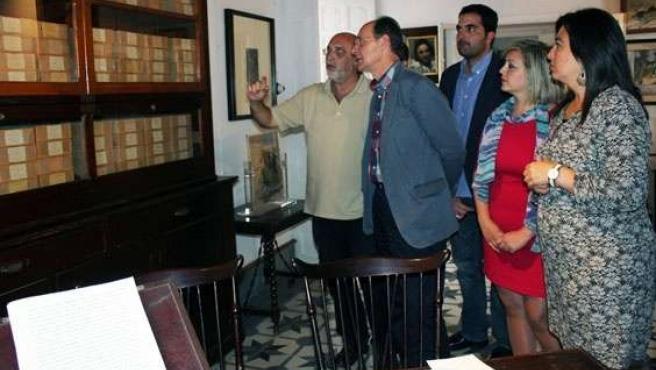 Díaz Trillo en la visita a la casa museo Zenobia-Juan Ramón