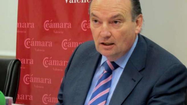 José Vicente Morata en un encuentro informativo de Cámara Valencia.