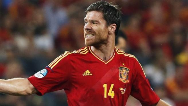 El jugador español Xabi Alonso.