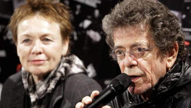 Lou Reed y su mujer, Laurie Anderson, en una foto realizada en 2010.