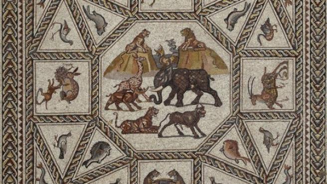 Panel central del Mosaico de Lod