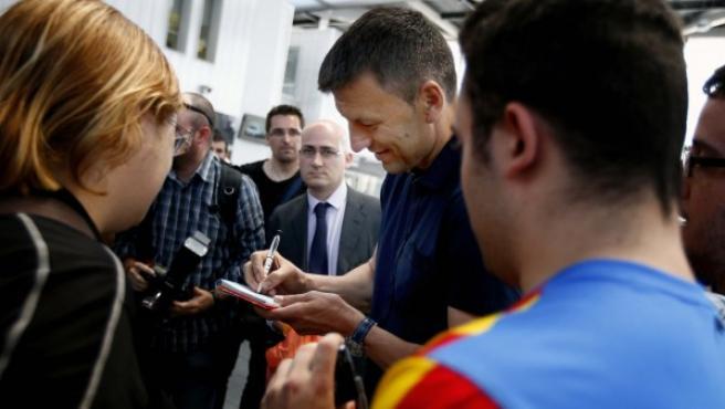 Djukic, a su llegada a Valencia.
