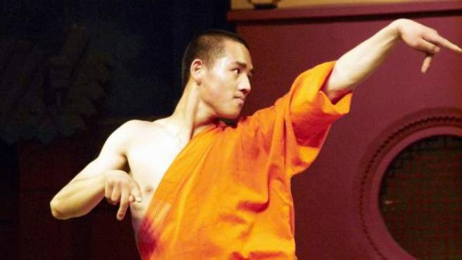 Practicante del arte marcial Wushu Shaolín.
