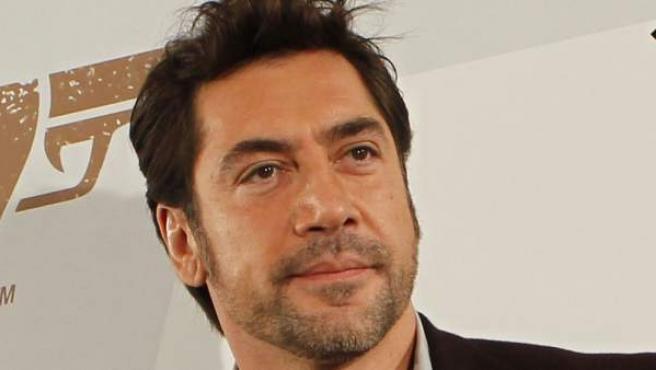 El actor Javier Bardem, en la presentación en Madrid de 'Skyfall'